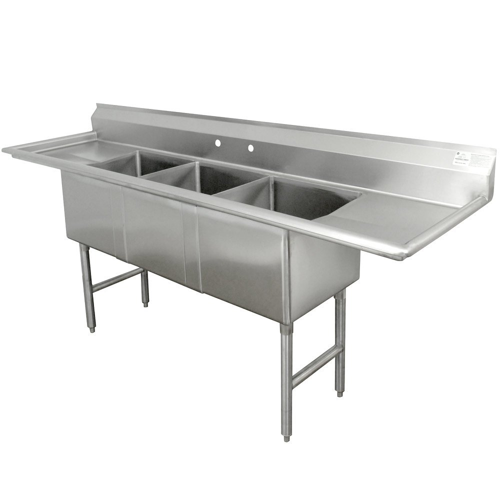 3 compartment sink | restaurant triple sink commercial