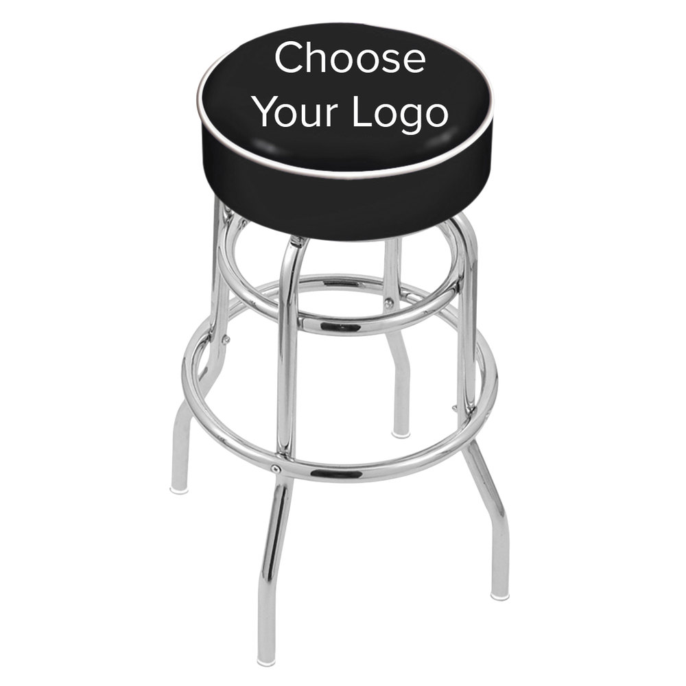 Excellent Holland Bar Stool Logo Double Ring Swivel Bar Stool With 4 Padded Seat Bralicious Painted Fabric Chair Ideas Braliciousco