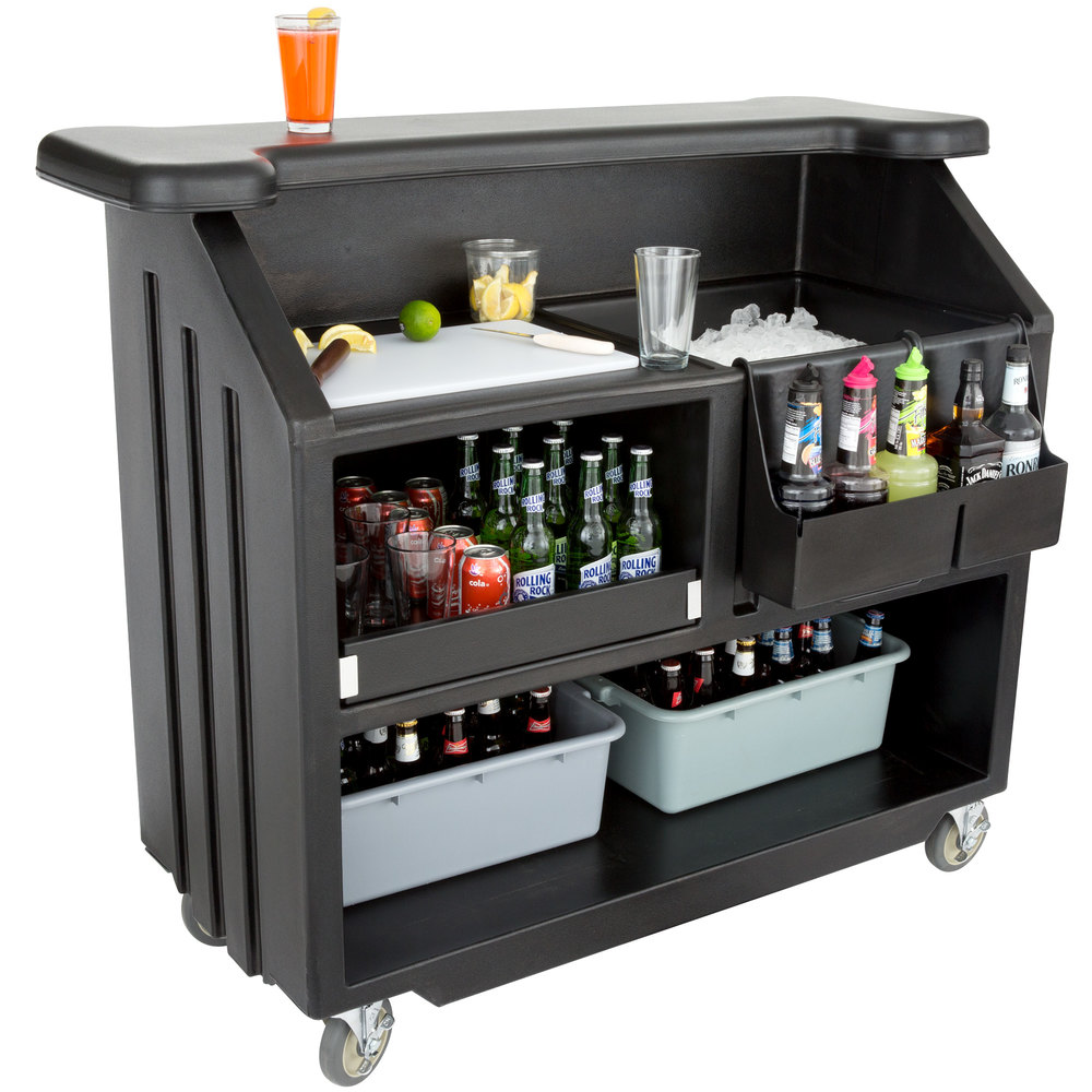 Cambro Bar540110 Cambar Black 54 Quot Portable Bar With 5