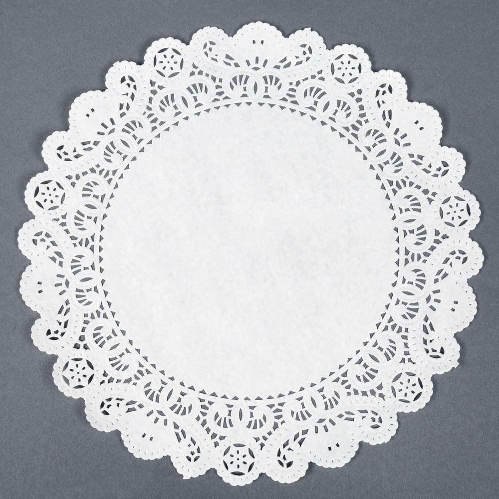 12 Paper Lace Doilies Round 500 Pack