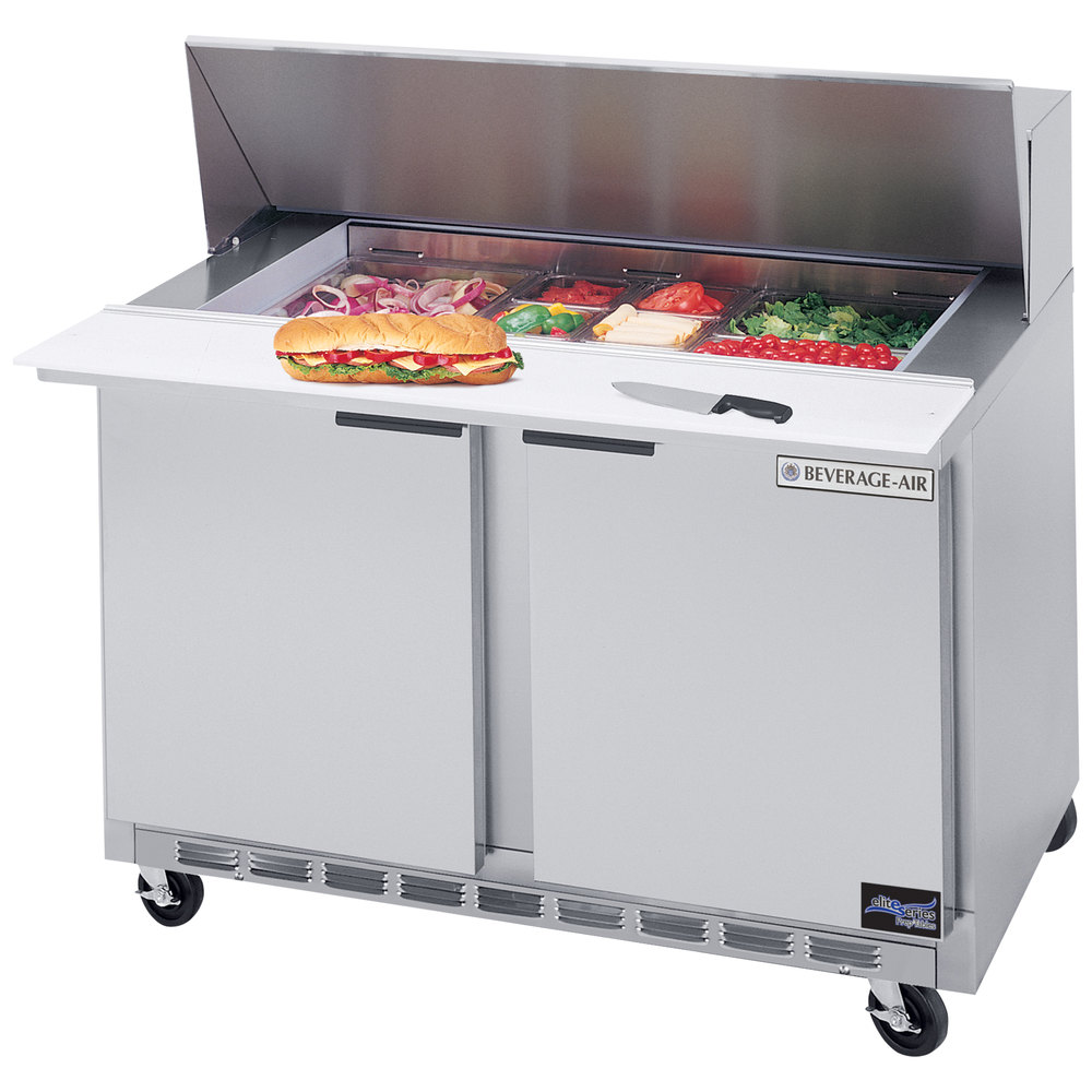 air spe m mega top refrigerated salad sandwich prep table main picture
