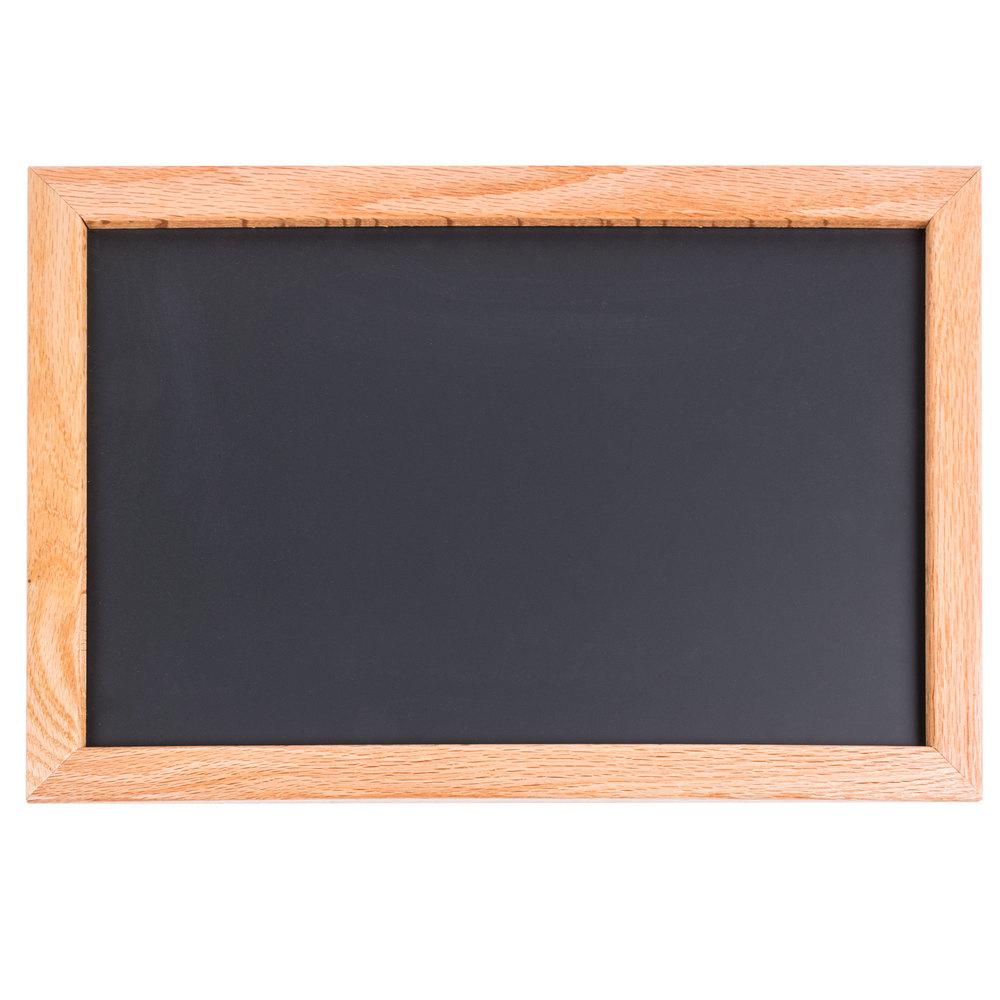 aarco 12 u0026quot  x 18 u0026quot  oak frame black chalk board