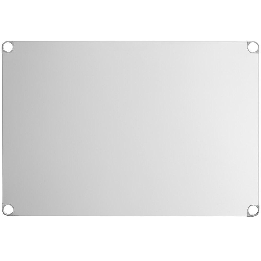 Regency Adjustable Stainless Steel Work Table Undershelf for 36 inch x 48 inch Tables - 18 Gauge