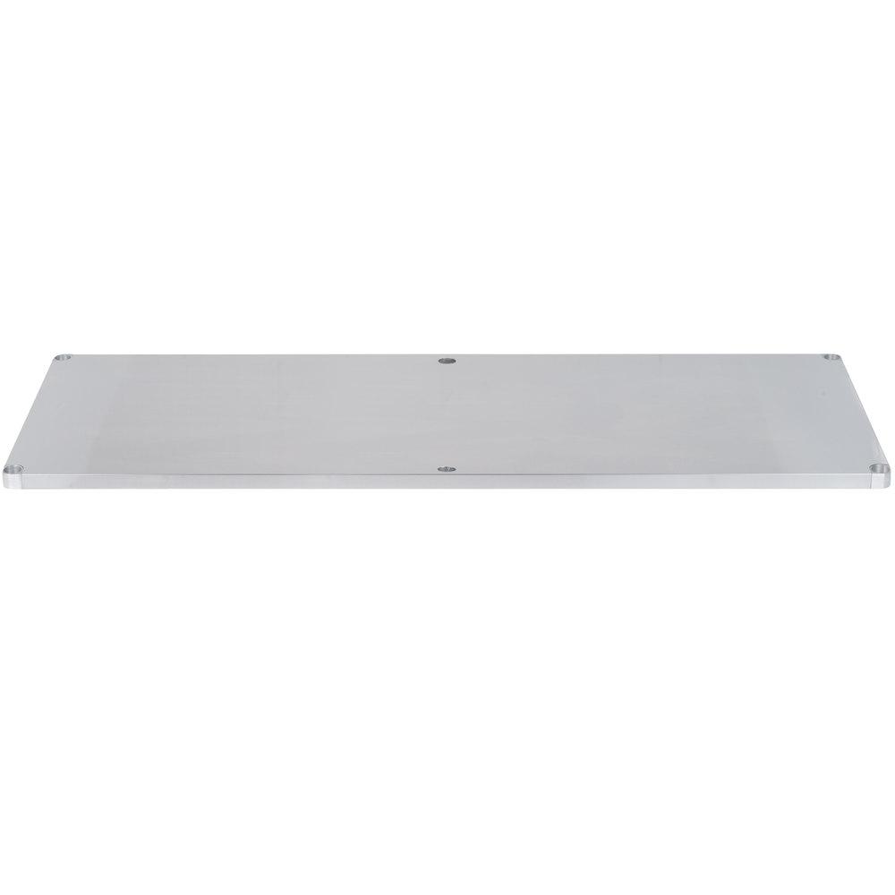 Regency Adjustable Stainless Steel Work Table Undershelf for 36 inch x 96 inch Tables - 18 Gauge