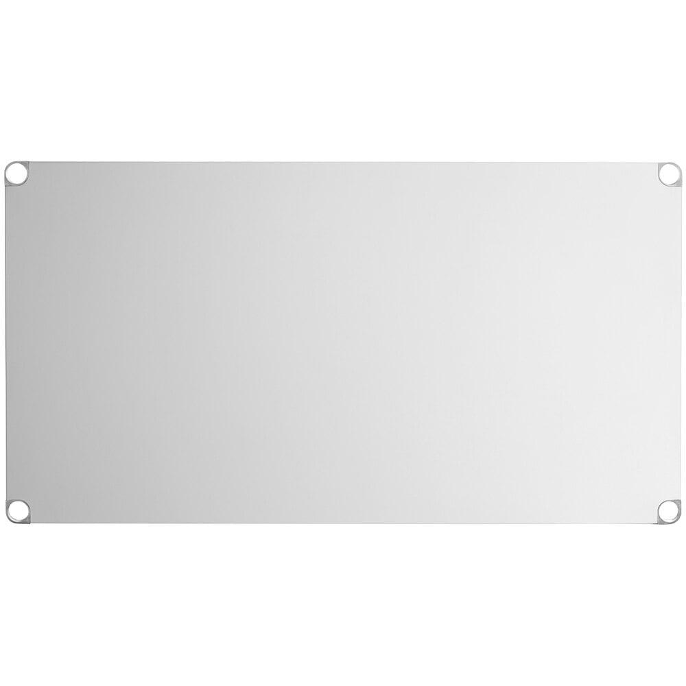 Regency Adjustable Stainless Steel Work Table Undershelf for 36 inch x 60 inch Tables - 18 Gauge
