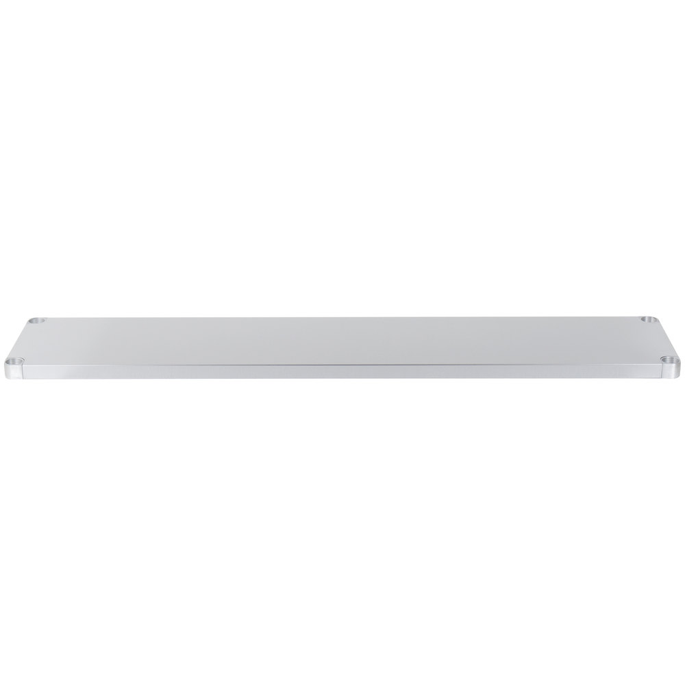 Regency Adjustable Stainless Steel Work Table Undershelf for 18 inch x 72 inch Tables - 18 Gauge