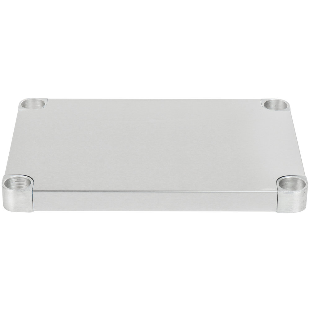 Regency Adjustable Stainless Steel Work Table Undershelf for 18 inch x 24 inch Tables - 18 Gauge
