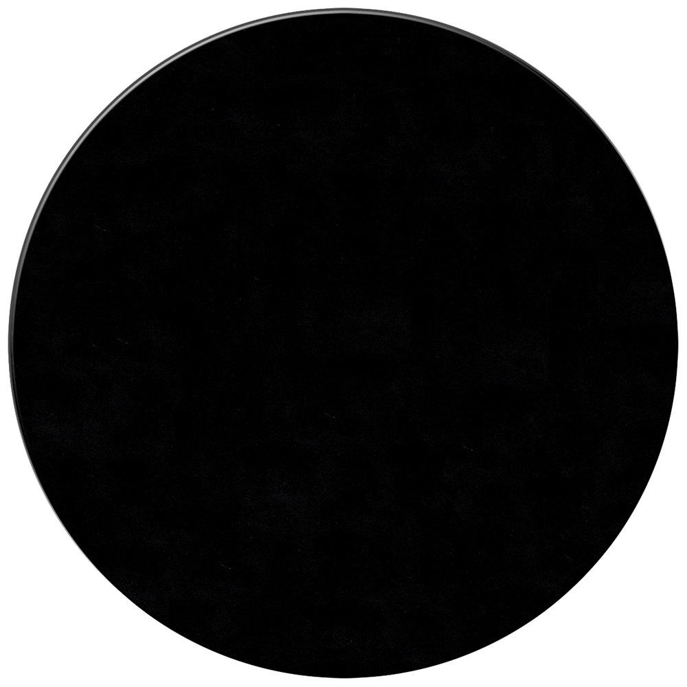 H Risch Inc 15 Quot Customizable Black Vinyl Round Placemat