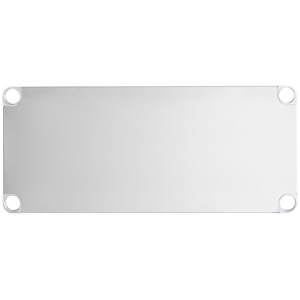 Regency Adjustable Stainless Steel Work Table Undershelf for 18 inch x 36 inch Tables - 18 Gauge