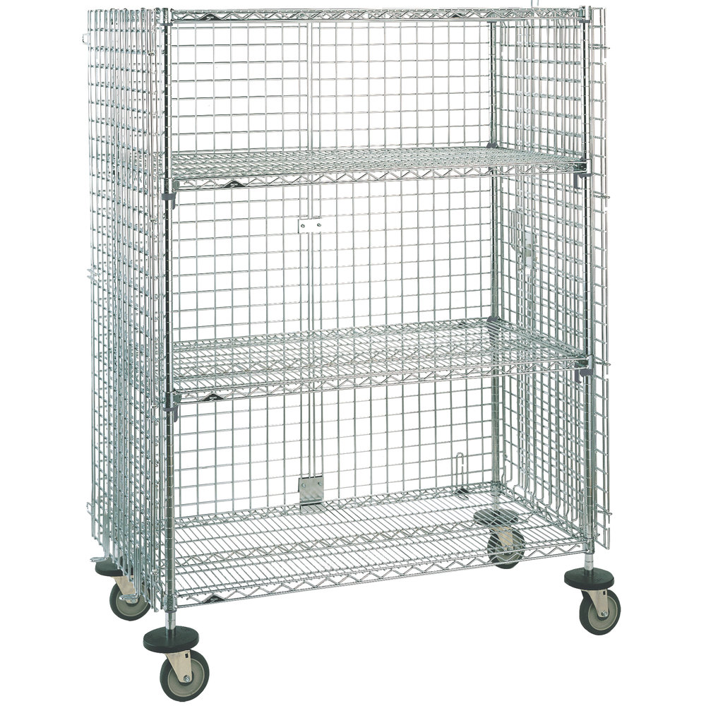 "Metro SEC66EC Mobile Standard Duty Wire Security Cabinet - 65"" x 33 1/2"" x 68 1/2"""