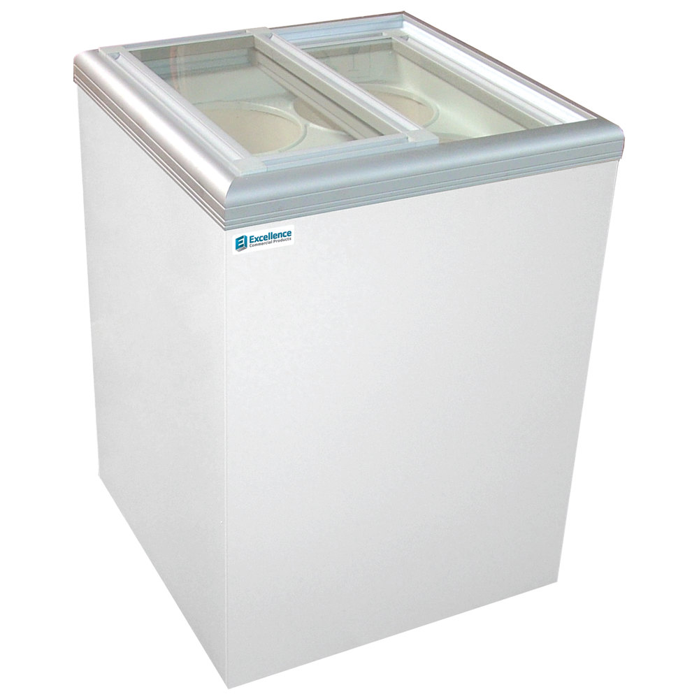 Excellence Isl5d Ice Cream Flat Top Flat Lid Display