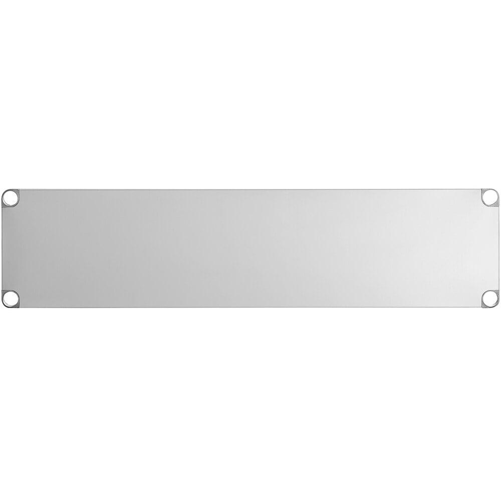 Regency Adjustable Stainless Steel Work Table Undershelf for 18 inch x 60 inch Tables - 18 Gauge