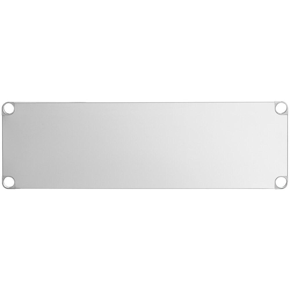 Regency Adjustable Stainless Steel Work Table Undershelf for 18 inch x 48 inch Tables - 18 Gauge