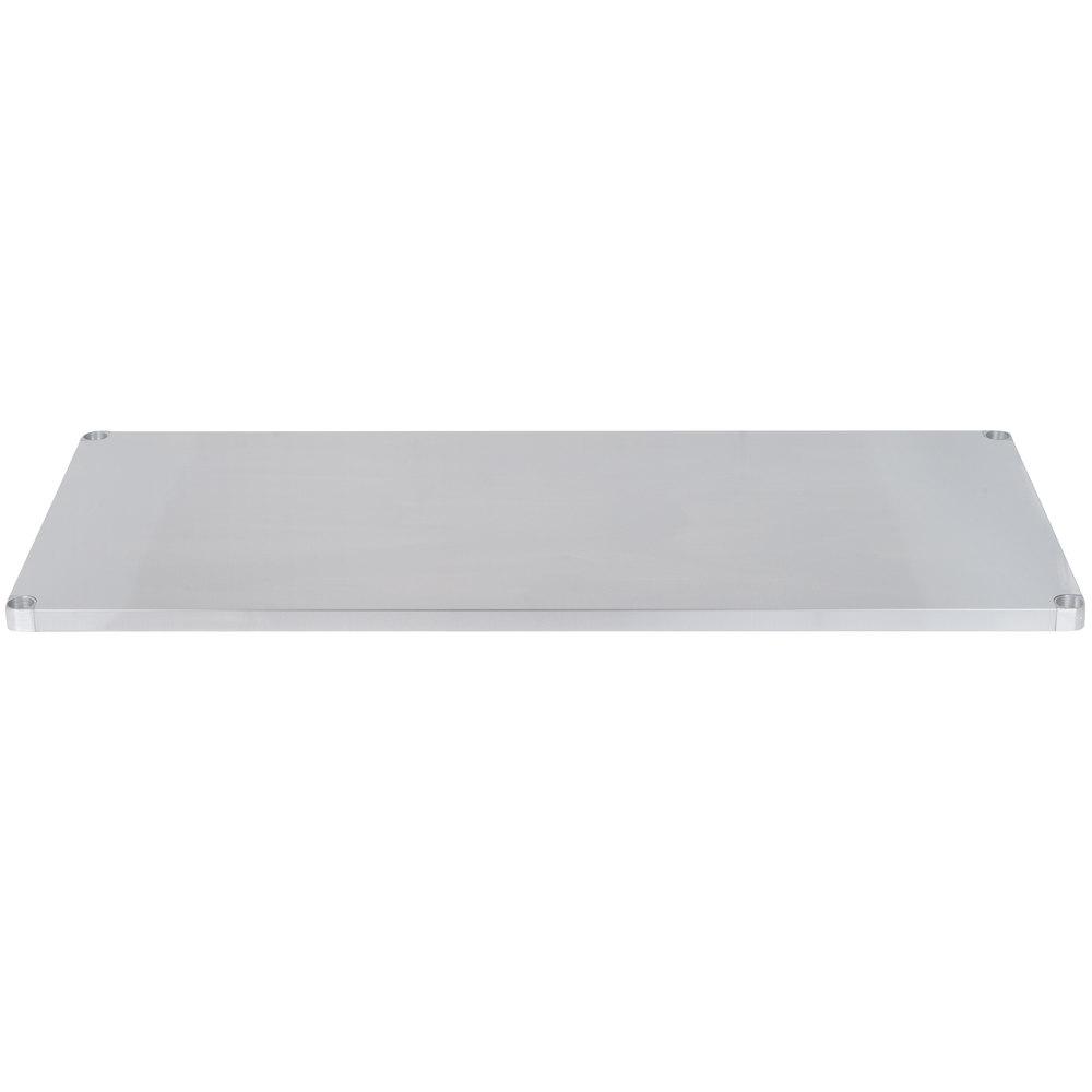 Regency Adjustable Stainless Steel Work Table Undershelf for 36 inch x 72 inch Tables - 18 Gauge
