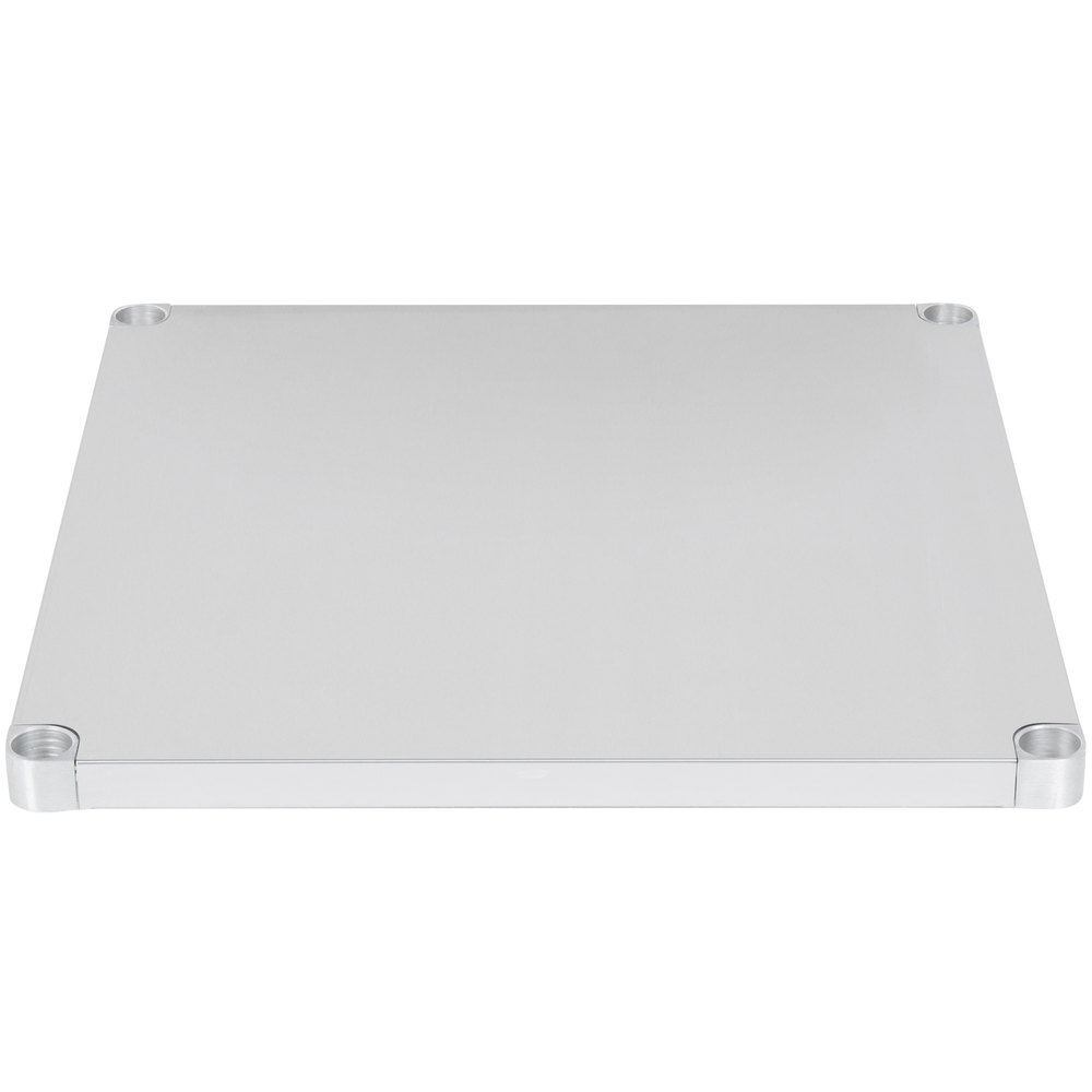 Regency Adjustable Stainless Steel Work Table Undershelf for 36 inch x 36 inch Tables - 18 Gauge