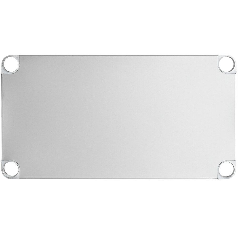 Regency Adjustable Stainless Steel Work Table Undershelf for 18 inch x 30 inch Tables - 18 Gauge