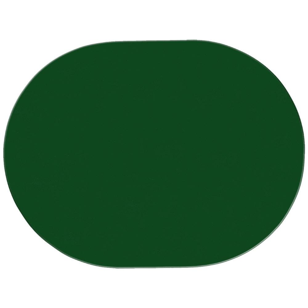 H Risch Inc 13 Quot X 17 Quot Green Vinyl Oval Placemat
