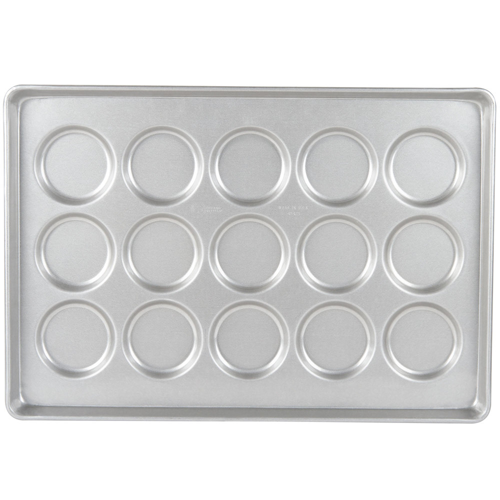 Chicago Metallic 42425 15 Mold Glazed Individual ePAN Hamburger Bun / Muffin Top / Cookie Pan