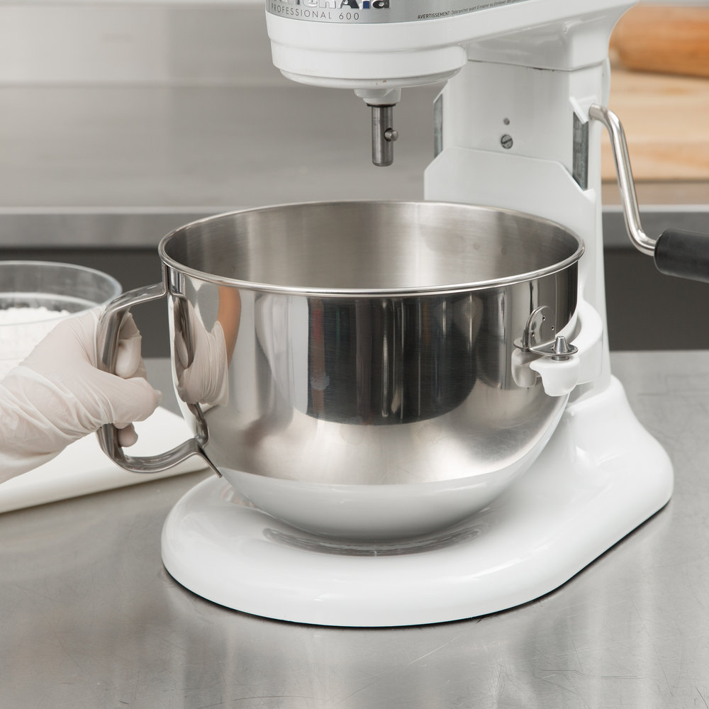 KitchenAid KN25NSF Brushed Stainless Steel 5 Qt. NSF Mixing Bowl ...