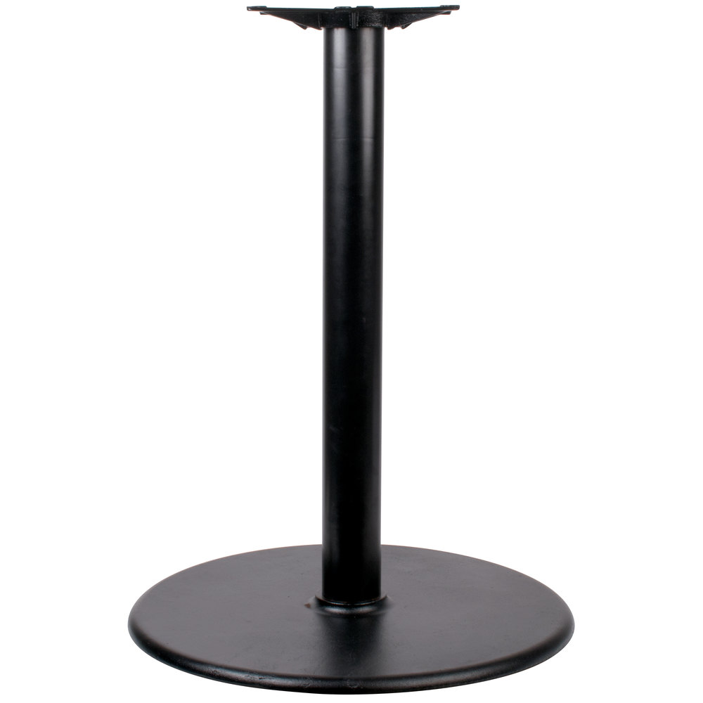 "Coffee Height Round Large Table Base Round Column: Lancaster Table & Seating 30"" Round Black 4"" Bar Height"