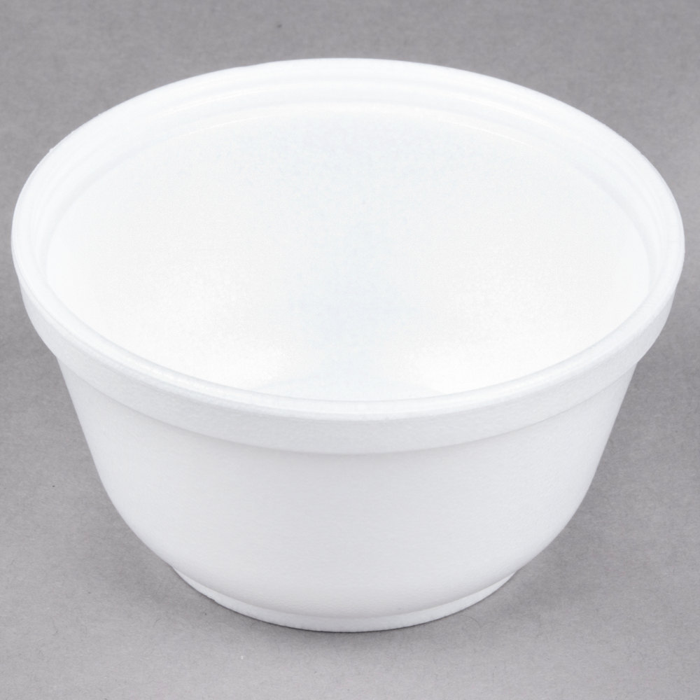 Dart 10b20 10 Oz Insulated White Foam Bowl 50 Pack