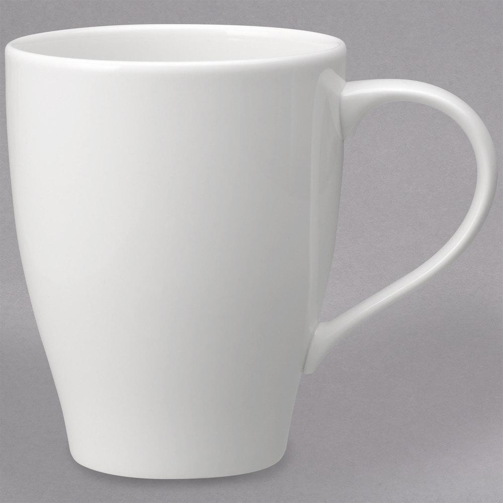 villeroy boch 16 3293 9651 dune 13 5 oz white porcelain mug 6 case. Black Bedroom Furniture Sets. Home Design Ideas