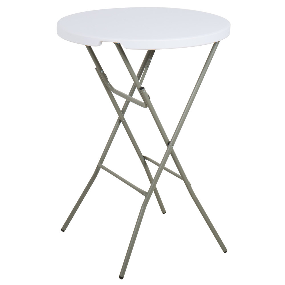plastic high top table 32 round plastic folding event table. Black Bedroom Furniture Sets. Home Design Ideas