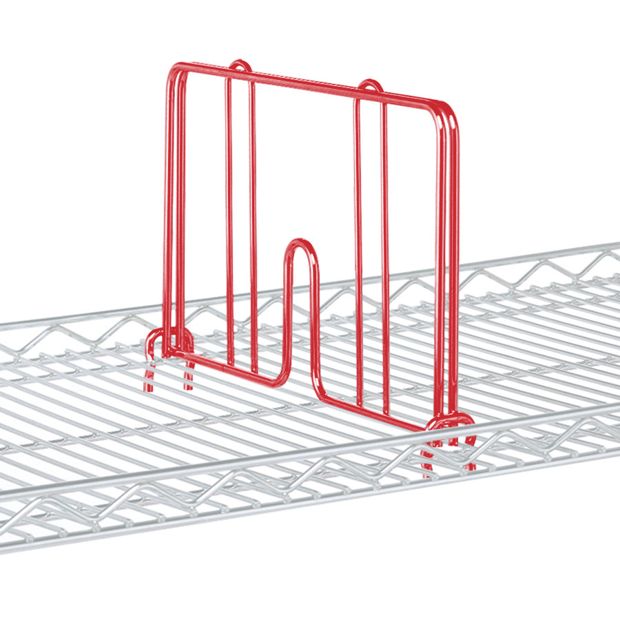 "Metro HD24-DF Flame Red Drop Mat Snap-On Divider - 24"" Wide"