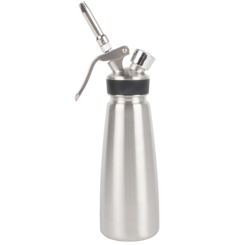 Whip It Dispenser ~ Liter stainless steel whipped cream dispenser
