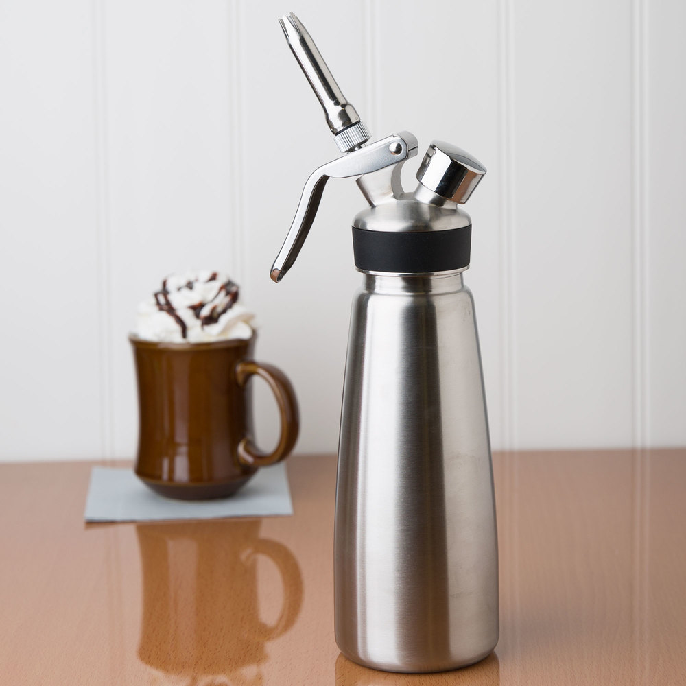 Whip It Dispenser ~ Liter stainless steel whipped cream dispenser