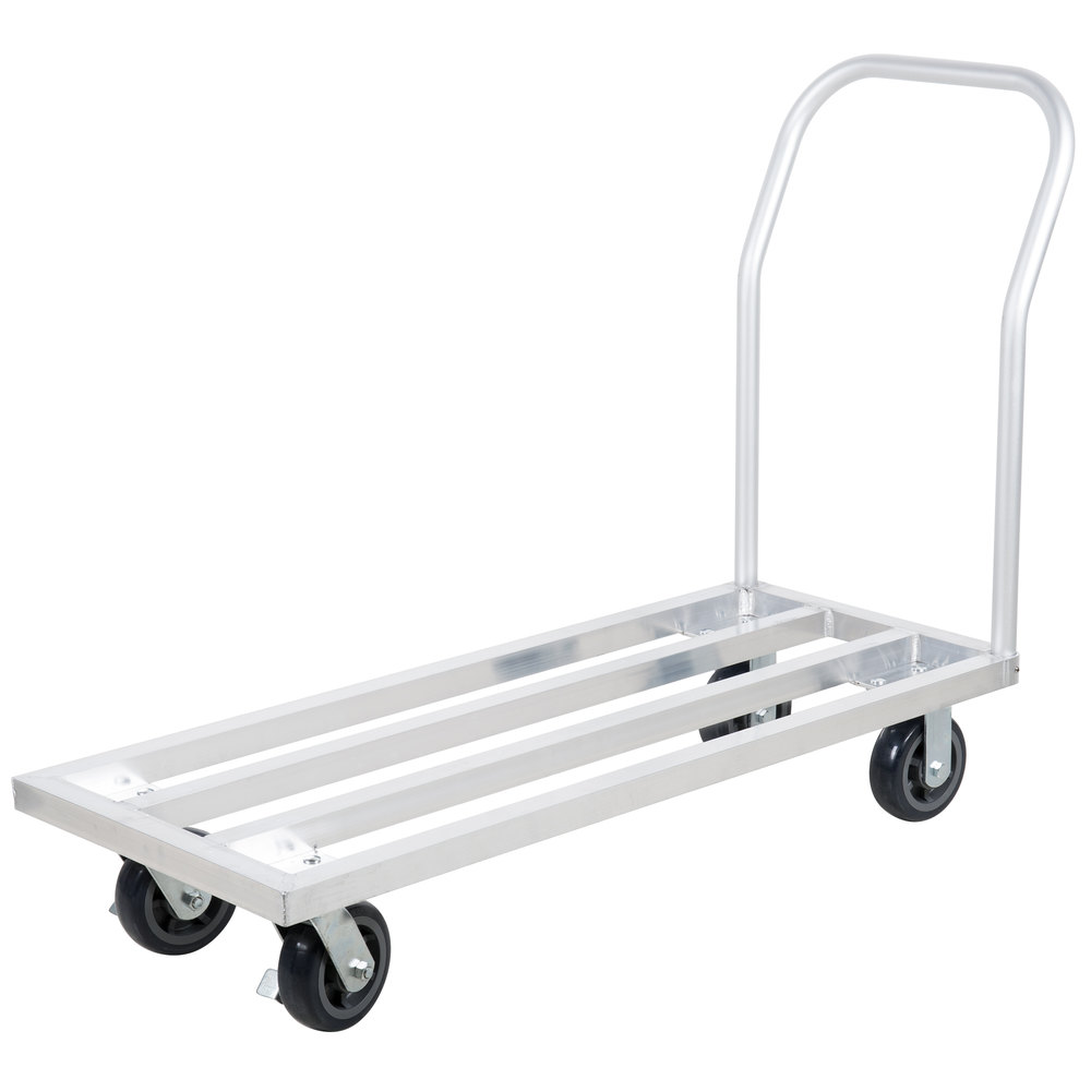 Regency 20 inch x 48 inch Mobile Aluminum Dunnage Rack - 1600 lb. Capacity