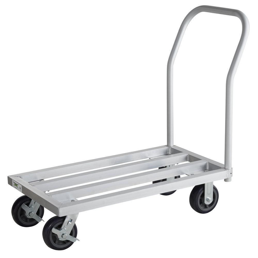 Regency 20 inch x 36 inch Mobile Aluminum Dunnage Rack - 1600 lb. Capacity