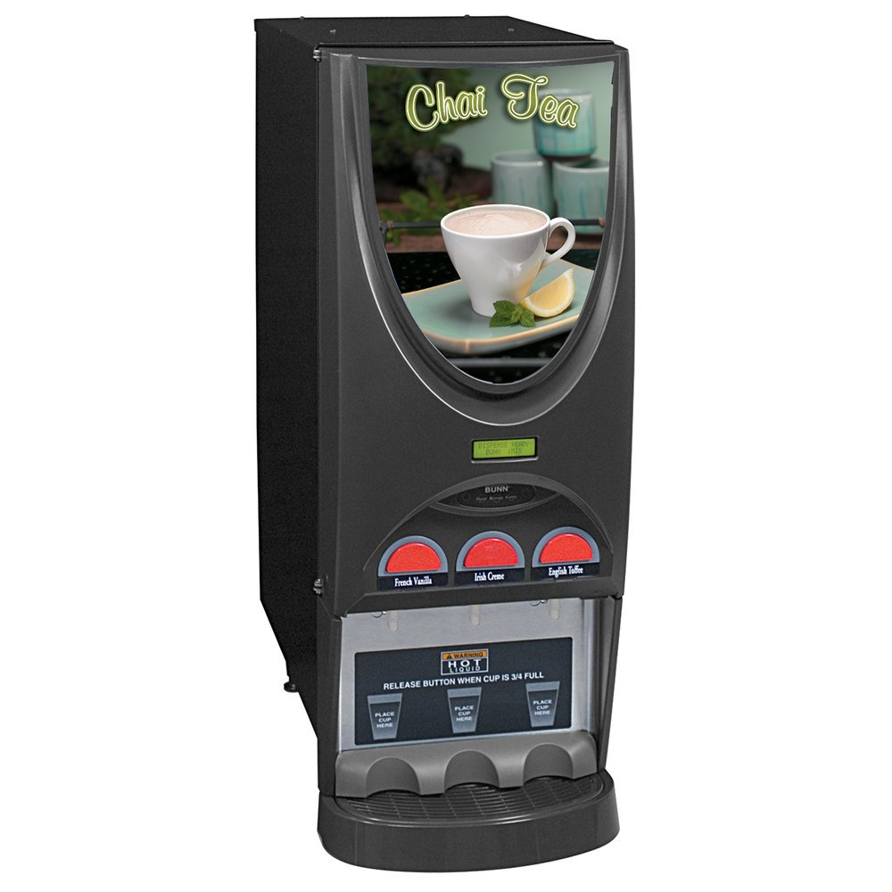 Bunn 36900.0005 iMIX-3 BLK Specialty Tea Dispenser with 3 Hoppers - 120V