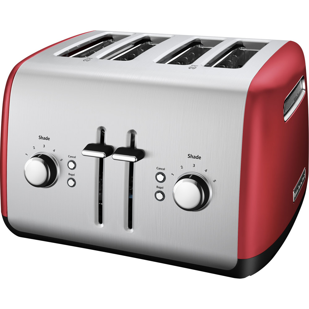 Kitchenaid Kmt4115er Empire Red Four Slice Toaster With