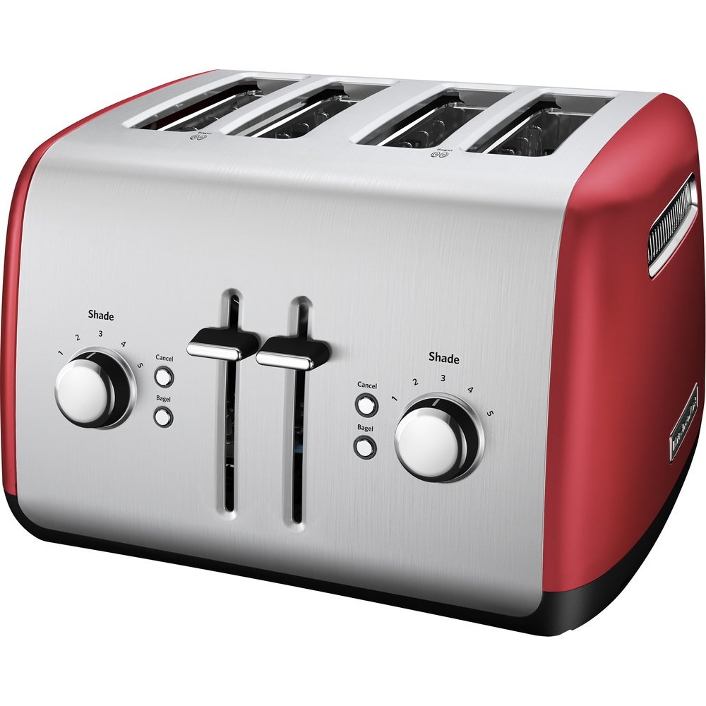 4 Slice Toaster ~ Kitchenaid kmt er empire red four slice toaster with