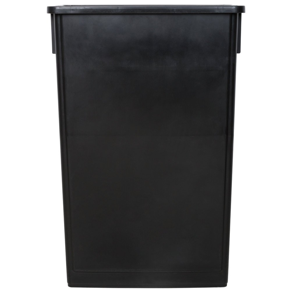 Lavex Janitorial 23 Gallon Black Slim Trash Can