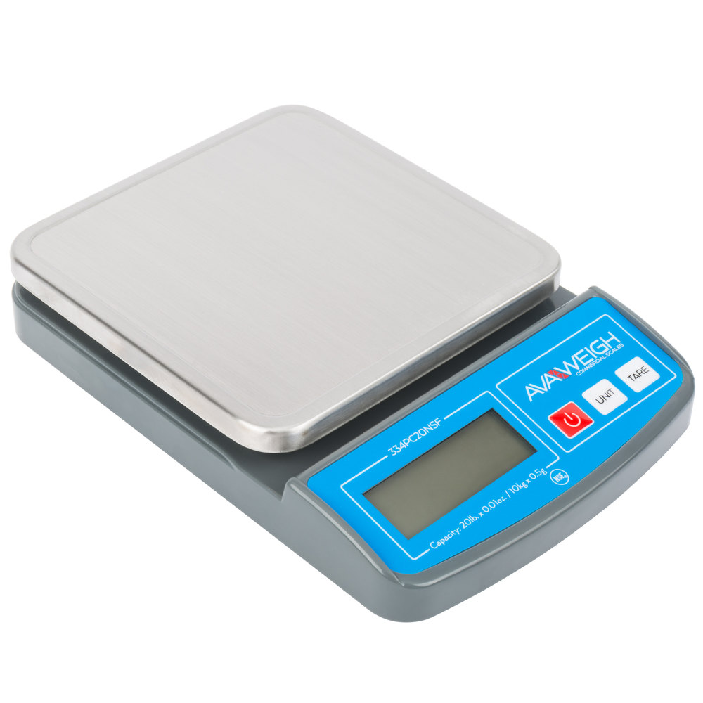 Avaweigh Pc20 20 Lb Compact Digital Portion Control Scale