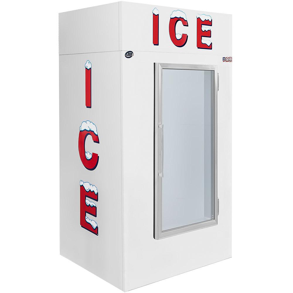 """Leer 40CG 51"""" Indoor Cold Wall Ice Merchandiser with Straight Front and  Glass Door"""