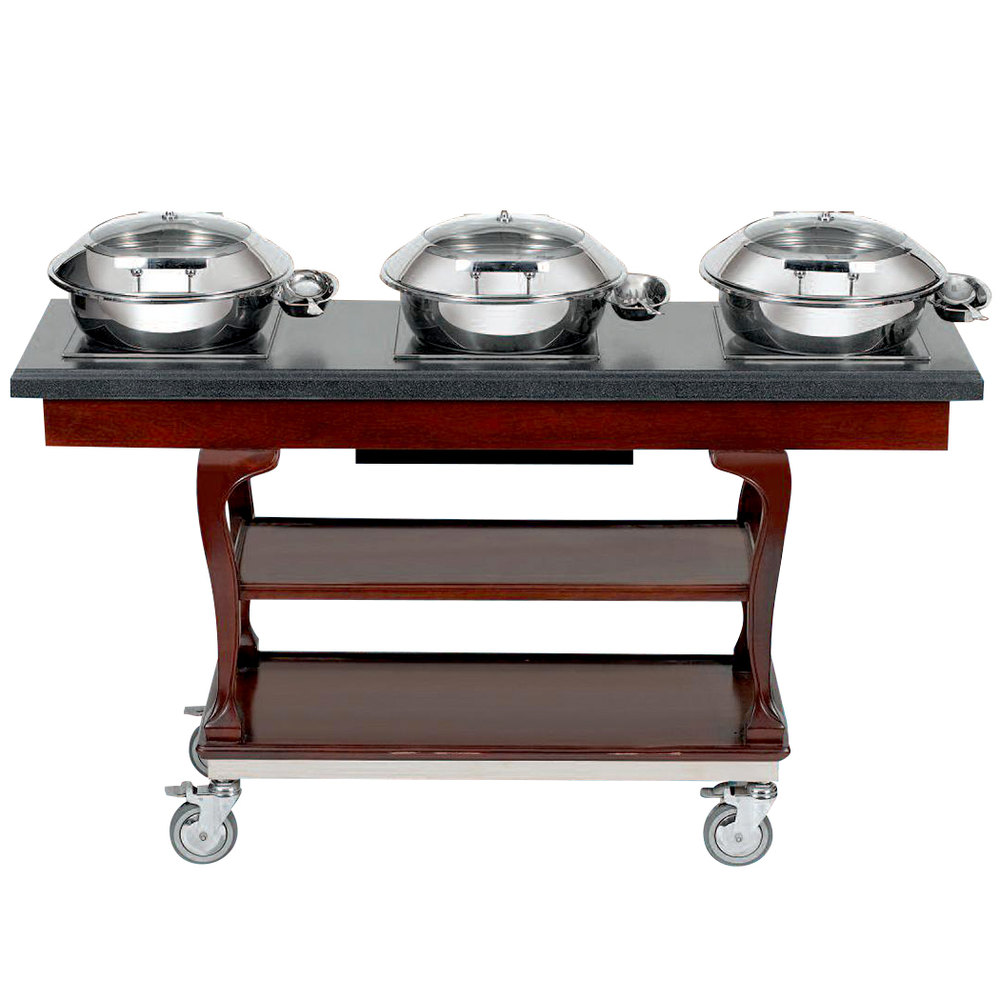 Bon chef 50063 64 x 20 x 36 x 64 x 36 mobile wood for Table induction