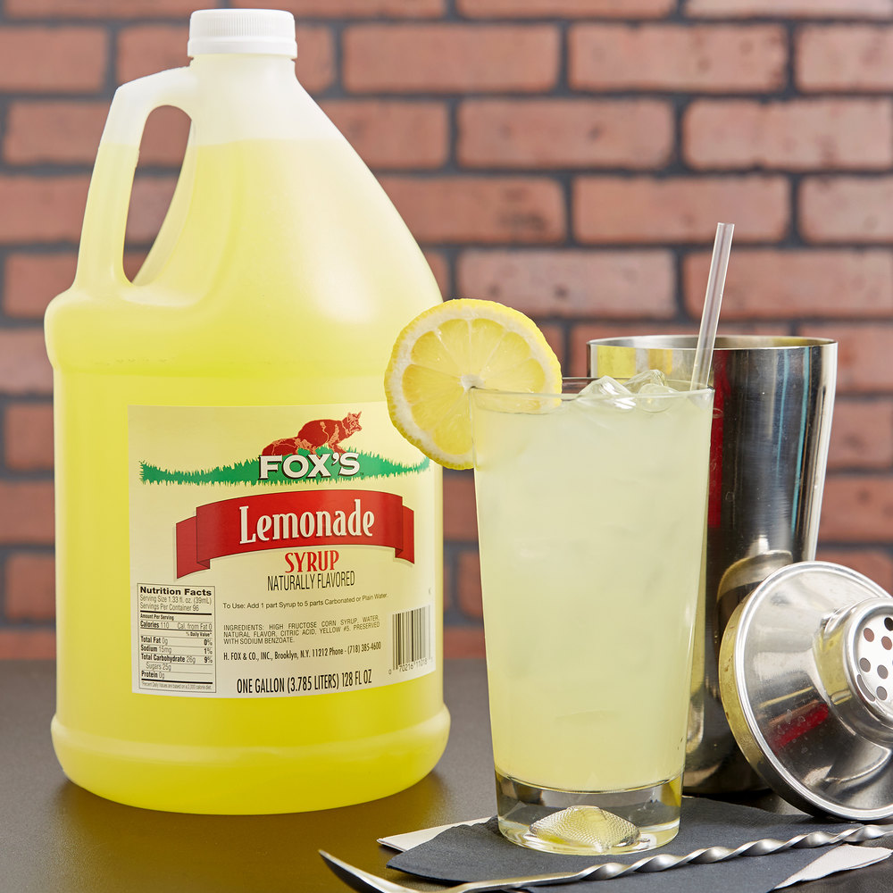 Fox's Lemonade Concentrate - 1 Gallon