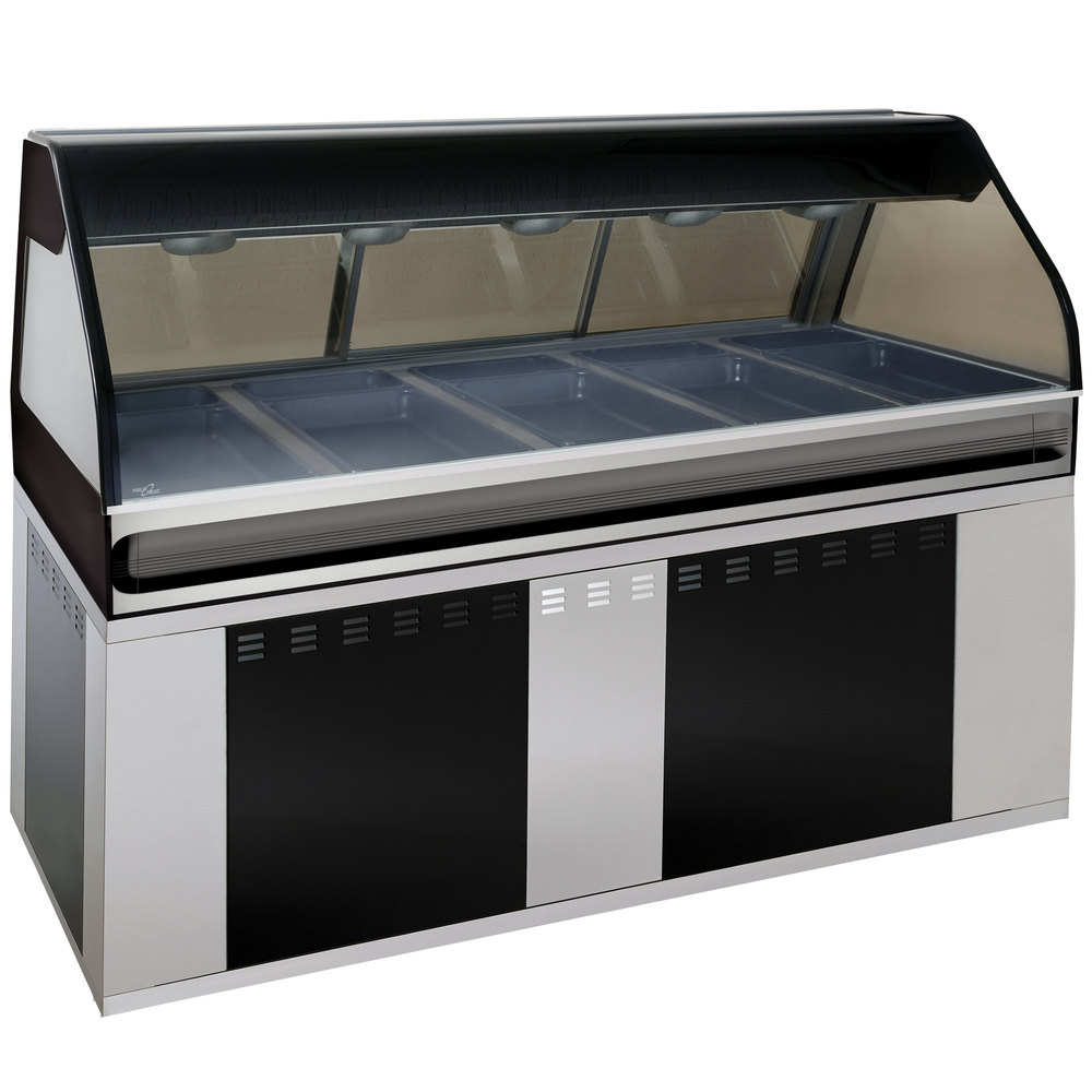 Alto-Shaam EU2SYS-72/P SS Stainless Steel Cook / Hold / Display Case with Curved Glass and Base - Self Service, 72""
