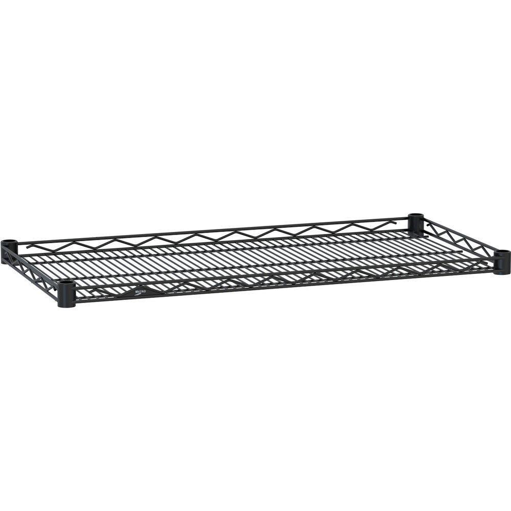"Metro HDM1448-DBM Super Erecta Black Matte Drop Mat Wire Shelf - 14"" x 48"""