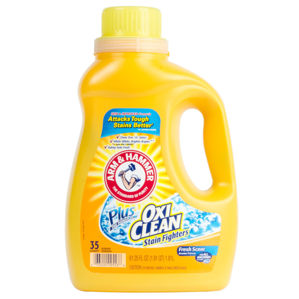 arm and hammer laundry detergent arm amp hammer 61 25 oz plus oxiclean liquid laundry detergent 28419