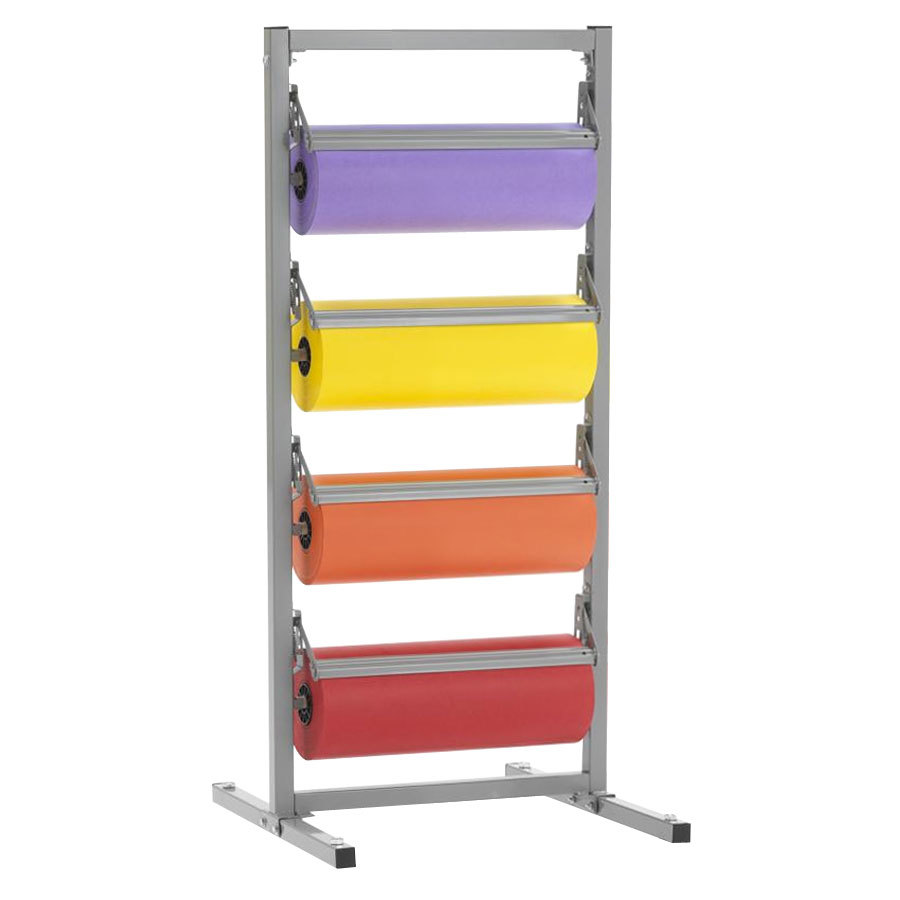 "Bulman T344R-12 12"" Four Deck Tower Paper Rack with Serrated Blade"