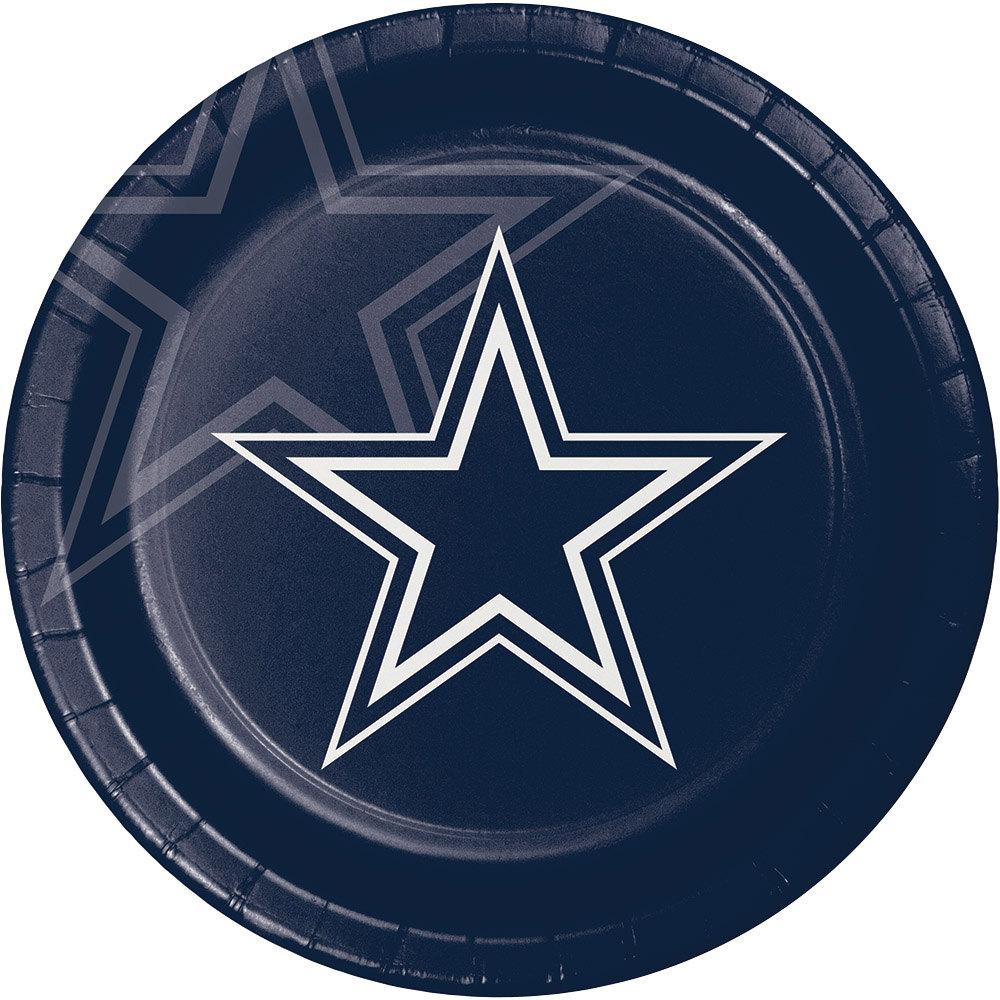"Creative Converting 429509 Dallas Cowboys 9"" Paper Dinner"