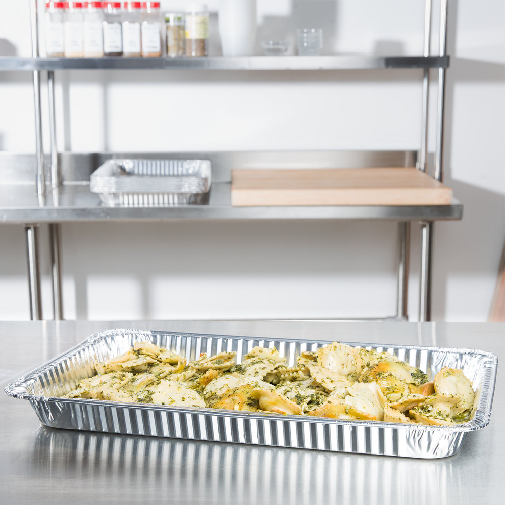 D&W Fine Pack B96 Full Size Foil Steam Table Pan Shallow Depth - 50/Case