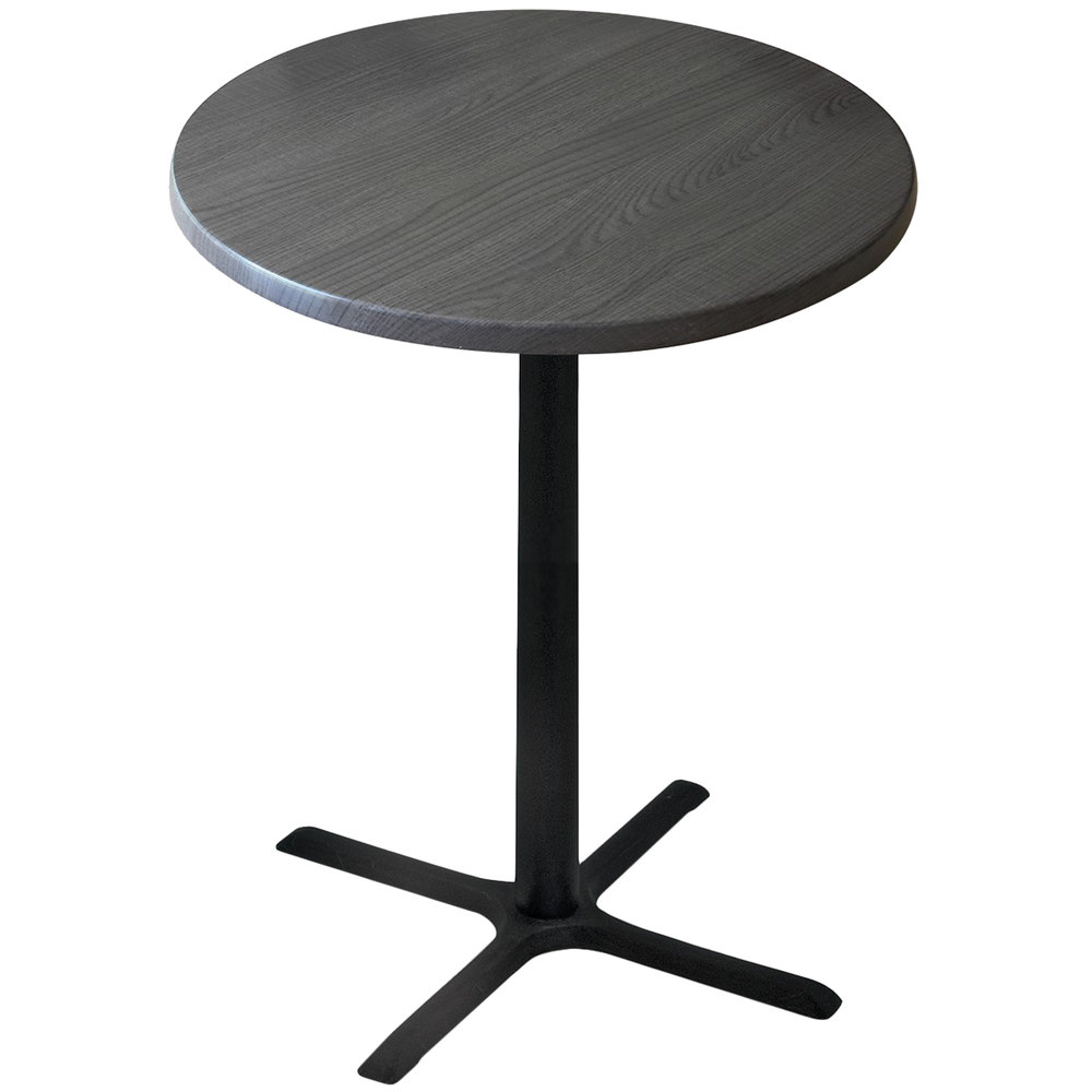 "Standard Furniture Cosmo Adjustable Height Round Wood Top: Holland Bar Stool OD211-3036BWOD36RChar 36"" Round Charcoal"