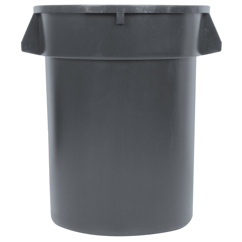 Continental 32TUFFGY 32 Gallon Gray/Black Trash Can