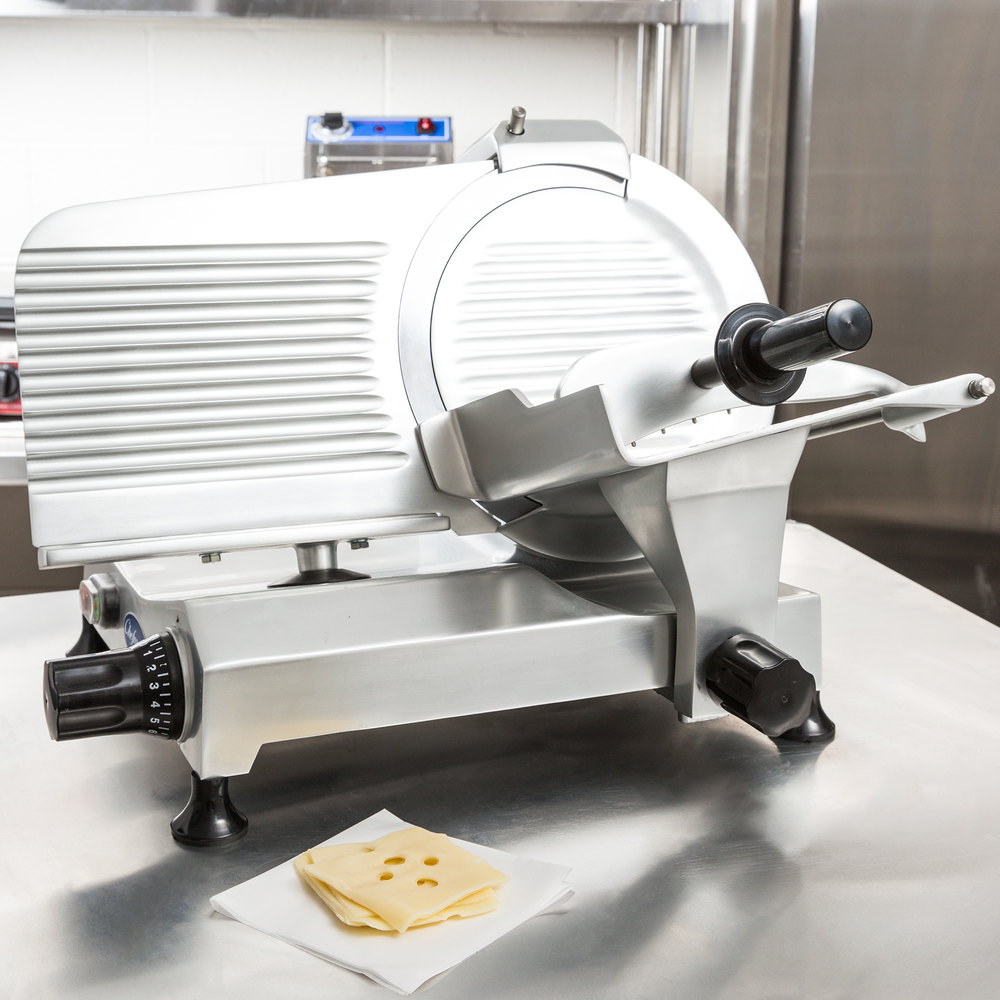 "Globe Chefmate C12 12"" Manual Gravity Feed Slicer - 1/3 hp"