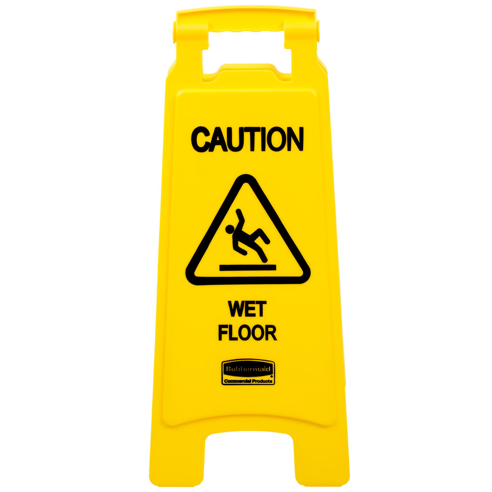 vector wet yellow sign eps included bright floor file
